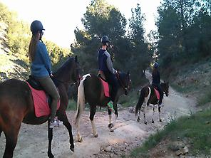 Horse riding route in La Alberca, Murcia