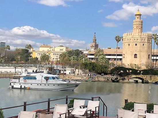 Yacht getaway on the Guadalquivir River