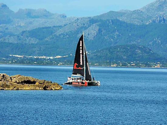 Navegando por la costa de Mallorca