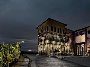 Bodegas Manzanos at night