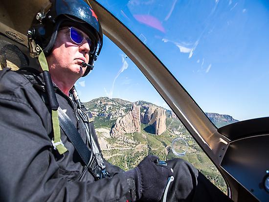 Flying over Mallos de Riglos.