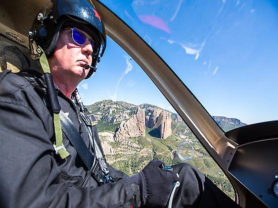 Flying over Mallos de Riglos.