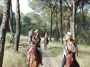 Horseback riding in Doñana