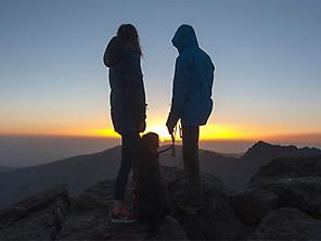 Sunset from the Veleta peak