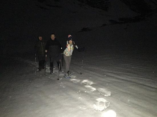 Snowshoeing at night experience in León