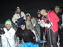 Snowshoeing at night in León