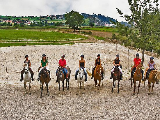 Horse riding in Ribadesella, Asturias