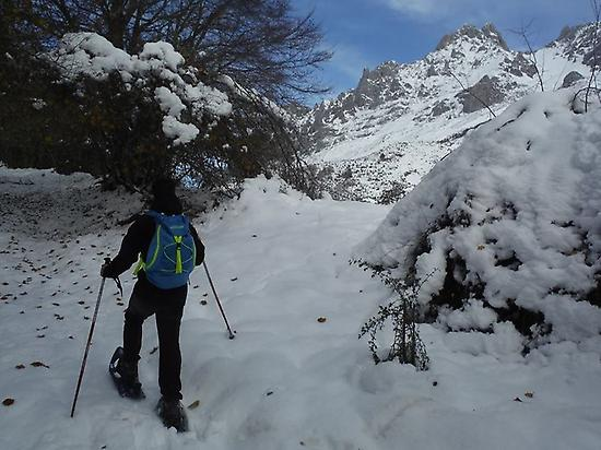 Snowshoeing intermediate level in León