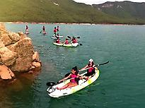 Cultural kayak in el Tranco