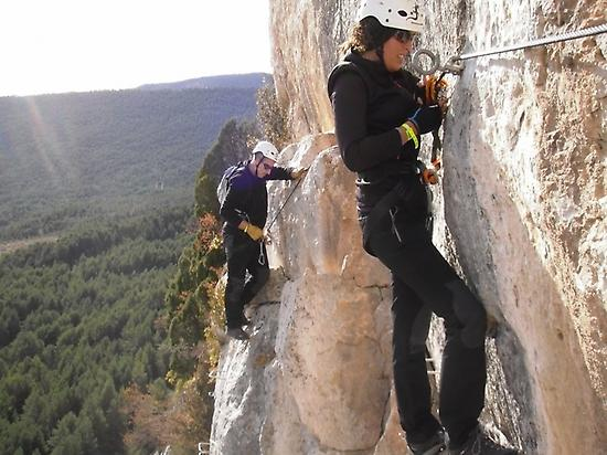 Initiation in via ferrata, Vallcebre