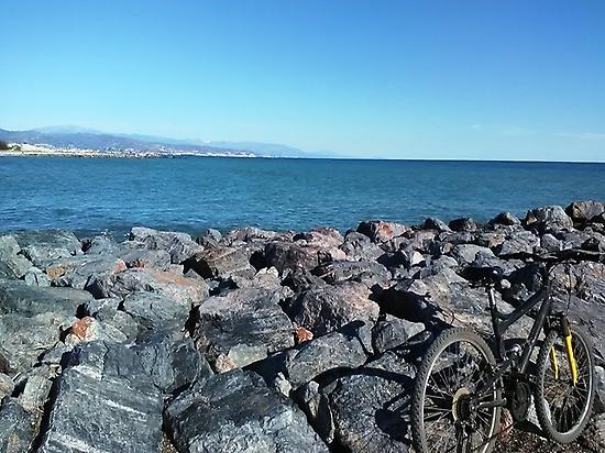 Cycling route in Málaga