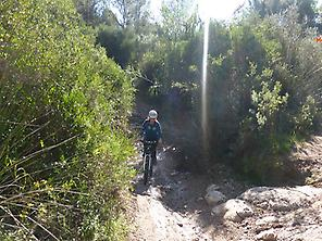 MTB over Galatzó torrent