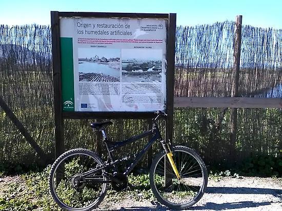 Biking route across Málaga