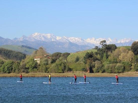 Paddle surf route in S.V. de la Barquera