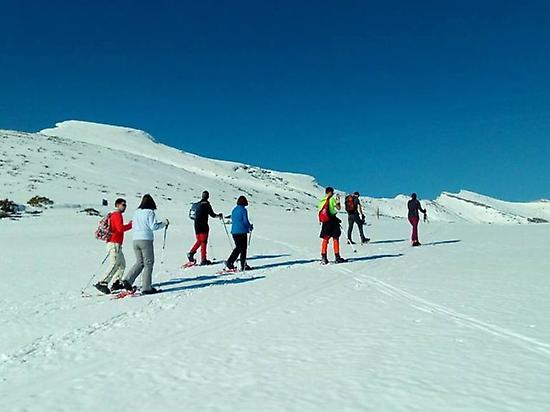 Snowshoeing in Alto Campoo (Cantabria)