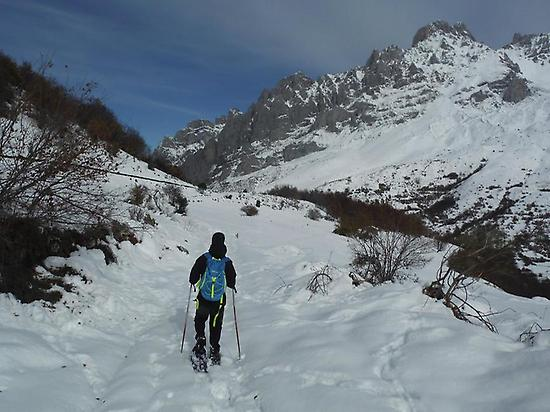Advanced ski mountaineering route, León