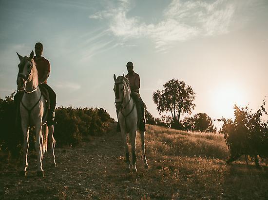 Ruta a caballo.