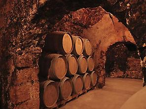 Ageing caves in Bodegas Jesus Díaz